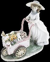 リヤドロ フィギュア 「可愛いお花屋さん」