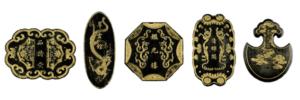 様々なデザインの墨