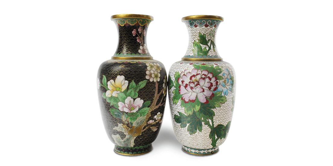 【大阪本店:陶器買取】七宝焼 花瓶