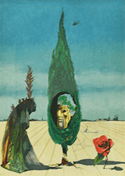 サルバドール・ダリ リトグラフ 「バラのエニグマ」