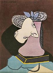 パブロ・ピカソ リトグラフ 「麦わらの女」