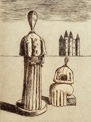 ジョルジョ・デ・キリコ リトグラフ 「二面性」