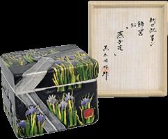 黒木国昭 新世紀ロマン 飾筥「燕子花」