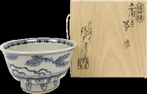 陽炎園 膳所焼 茶碗