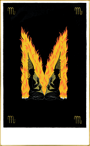 エルテ シルクスクリーン アルファベットシリーズ「M」