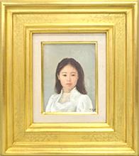 藤井勉 油彩「少女」