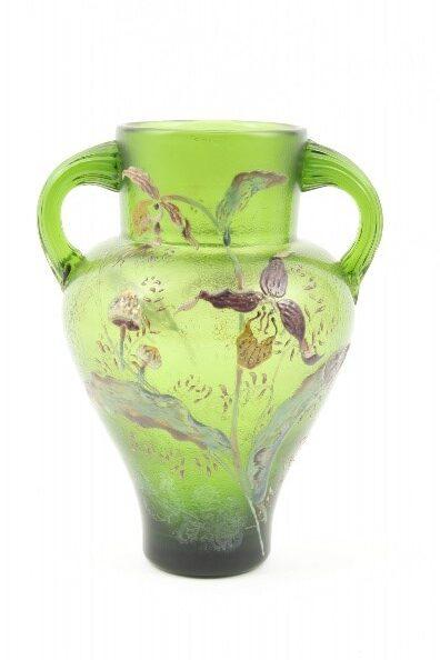 蘭ときのこ文花瓶