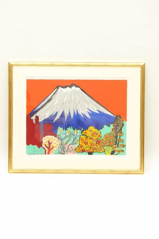 片岡球子 河口湖の赤富士