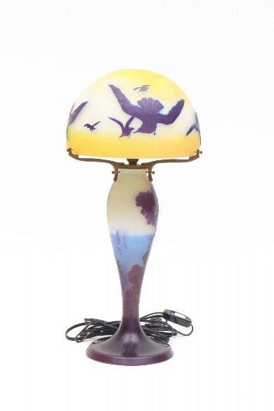 カモメと帆船文ランプ