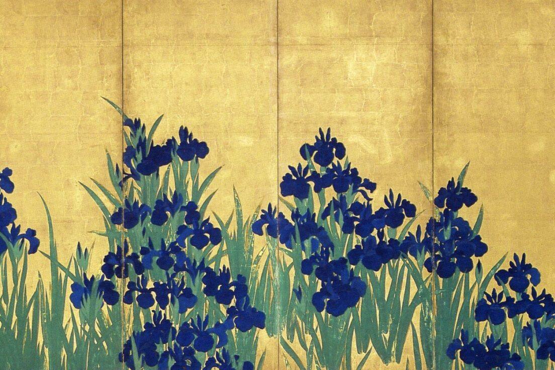 「燕子花図屏風」