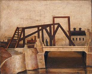 松本竣介 Y市の橋
