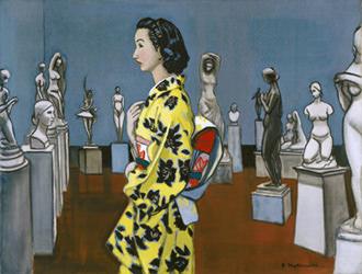 中西利雄 彫刻と女