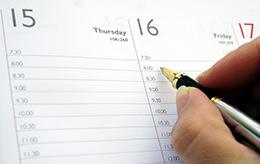 出張日程の確認
