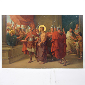 テンペラ画 「キリスト受難図」
