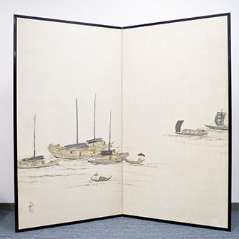 横山大観 「長江の舟」