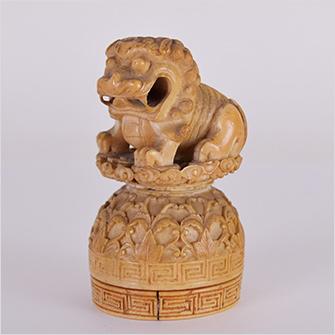 象牙 印材 獅子