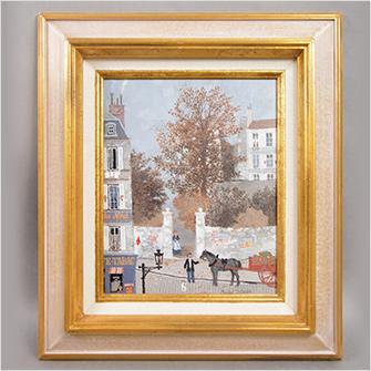 ミッシェル・ドラクロワ 油彩 「秋の色」