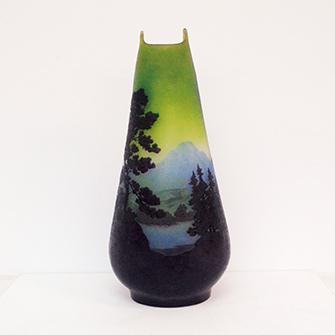 ガレ 風景文 花瓶