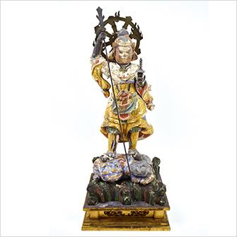 木彫仏像「毘沙門天」
