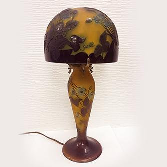 ガレ 花文 ランプ