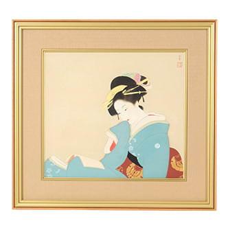 「つれづれ」木版画