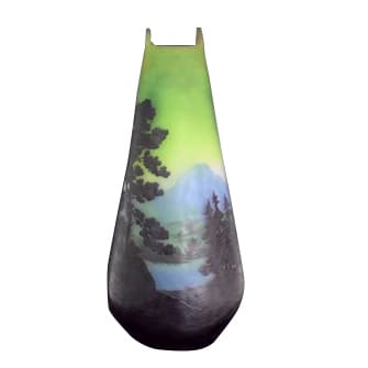 湖水風景文花瓶