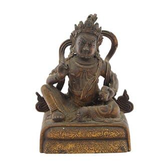 ブロンズ仏像「明王坐像」
