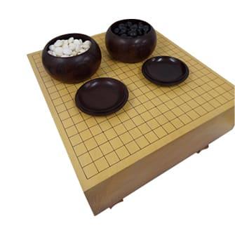 碁盤(三王裕孝サイン)碁石(蛤/那智黒)