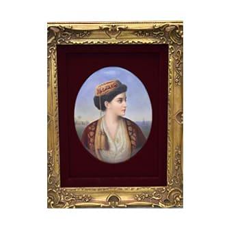 陶板画「ギリシャの女性」