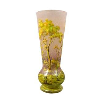 夏景色文花瓶