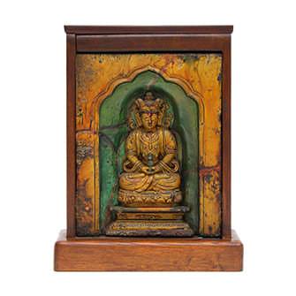陶磁器仏像「磨崖仏」