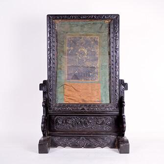 硯屏 チベット仏画