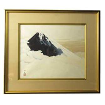「不二霊峰」木版画
