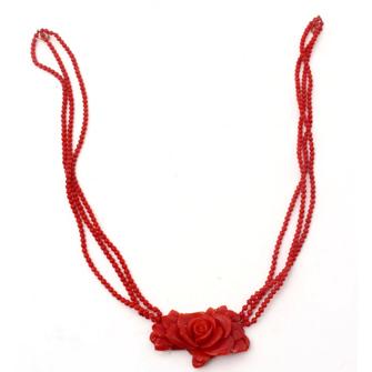 ネックレス「薔薇」