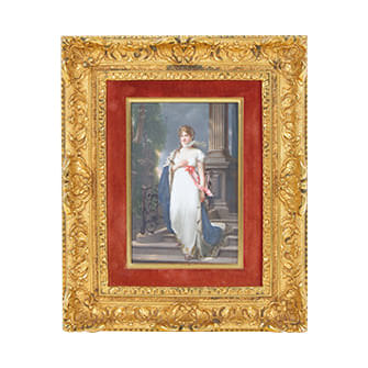 陶板画「マリー・ルイーズ」