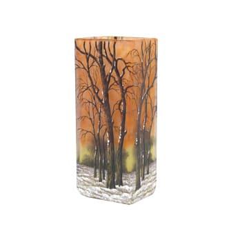 冬景色文角花瓶