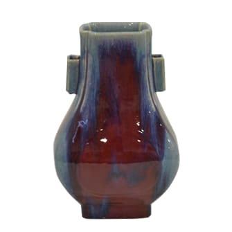 大清乾隆年製 辰砂花瓶