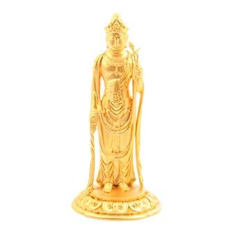 純金聖観世音菩薩像