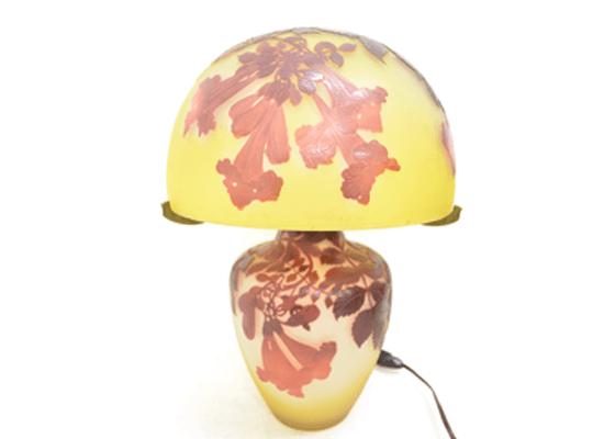 ガレ ノウゼンカズラ文ランプ