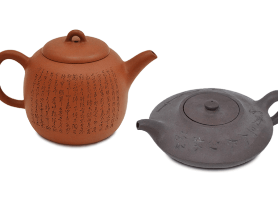 紫砂壷と朱泥茶器