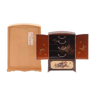 象牙螺鈿鳥梅図宝石箱