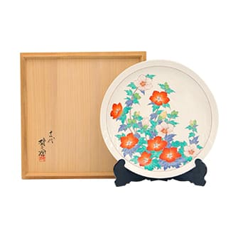 濁手木槿文皿