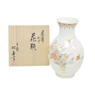 薩摩 秋草花瓶