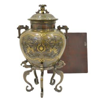 金銀象嵌香炉