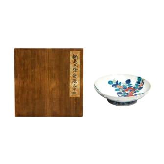 鍋島色檜薔薇文中皿