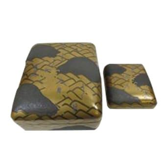 波文銀和歌蒔絵硯