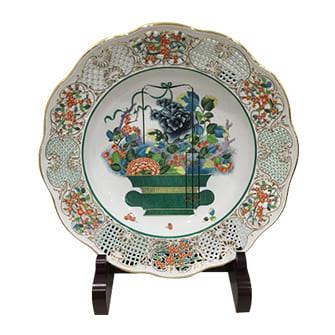 清の花籠皿