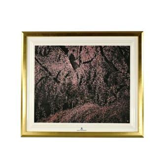 千住博 陶板画 満開の瀧桜