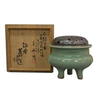 青磁袴腰香炉
